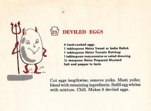 Vintage 1950s Deviled Egg recipe[3]